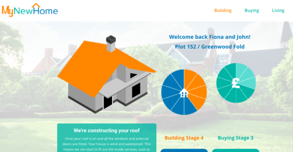 Screenshot showing the My New Home application